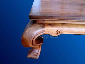 Table basse en palissandre.